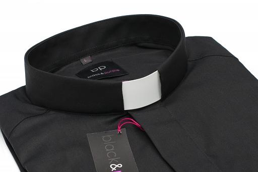 Košeľa čierna, 55% bavlna, krátky rukáv, č. 45-46, výška 170 – 176 cm
